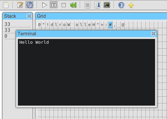 Capture d'écran de jsFunge IDE